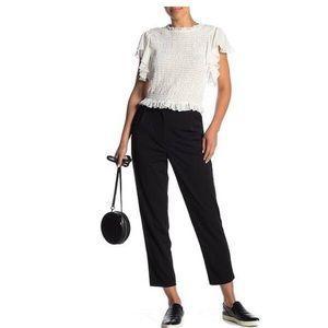 Nordstrom's Good Luck Gem Black Crop Dress Pant
